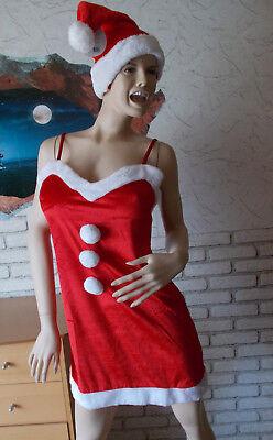 Sexy Kostüme Mann ( Weihnachtsmann- Nikolaus Kostüm, Weihnachtskleid Sexy mit Mütze, Größe S,)