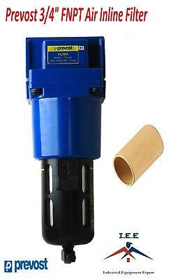 Prevost Compressed Air Inline Moisture Water Separator Filter 34 Fnpt High Cfm