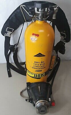 Scott 2216 Psi 30 Minute Breathing Scba Air Tank Cylinder For Air-pak W Mask