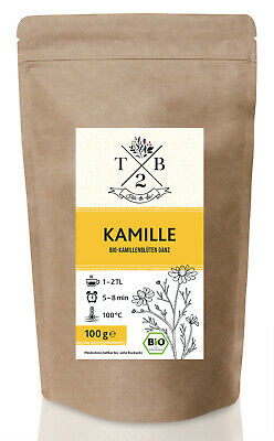 Beruhigend Dampf (Kamillenblüten ganz 🌿 | Beste Bio-Qualität | Für Tee und Dampfbad | beruhigend)