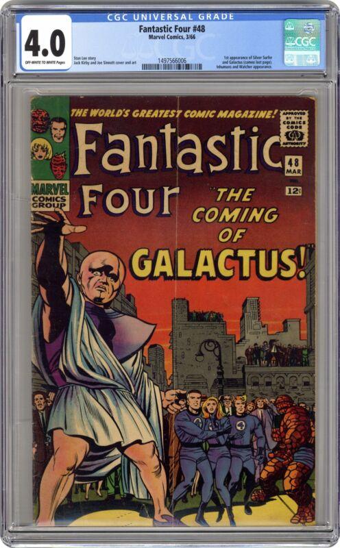 Fantastic Four #48 CGC 4.0 1966 1497566006 1st app. Galactus, Silver Surfer