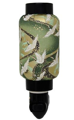 Green Cranes Oriental Japanese Washi Night Light Lamp Candle Home Decor Gifts Candle Night Light