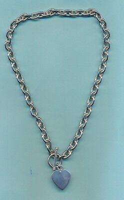 Timeless TiffaNY-style necklace/bracelet with rollo link, heart & toggle (Tiffany Style Heart Toggle Bracelet)