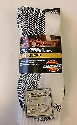 Crew Heavyweight Crew Socken (DICKIES 3 Pack Heavyweight Cushion Crew Socks - WHITE)