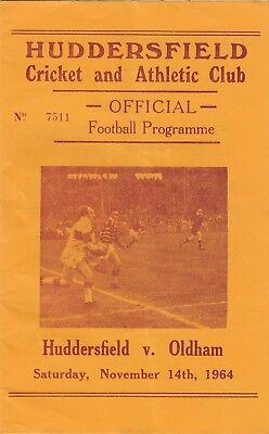 Huddersfield v Oldham 1964/5 (14 Nov)
