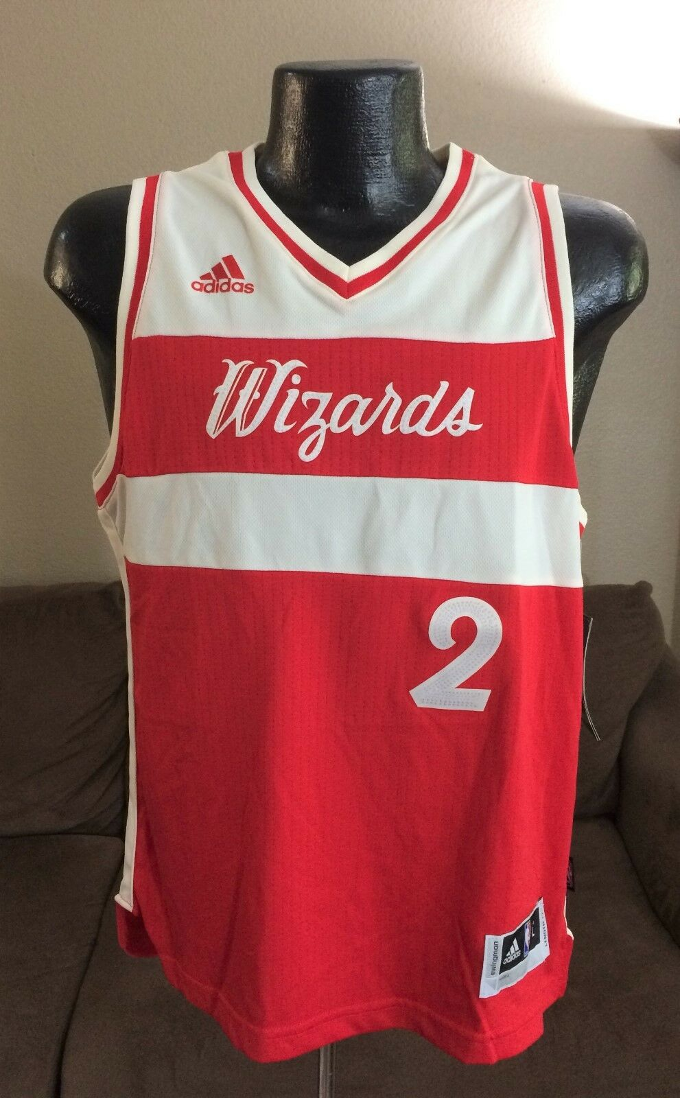 NBA WASHINGTON WIZARDS John Wall No. 2 Adidas Swingman Chris