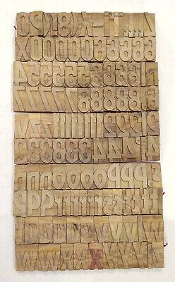 Vintage Letterpress Woodwooden Printing Type Block Typography 275 Pc 70mmdm25