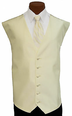 Small Boys After Six Aries Pale Yellow Openback Wedding Tuxedo Vest Tie Kids Set After Six Aries Vest