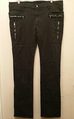 VERSACE Collection Men's Size 40 Black Multi Zip Pocket Denim Jeans AUTHENTIC