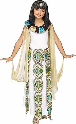 Girls Cleopatra Costume Kids Egyptian Roman Greek Egypt Fancy Dress Gown S M L