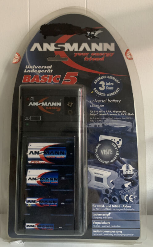 Ansmann+Battery+Charger+Basic+5+New+Old+Stock+Rc+Cars+Tamiya+Etc+AA+AAA+Mono+D