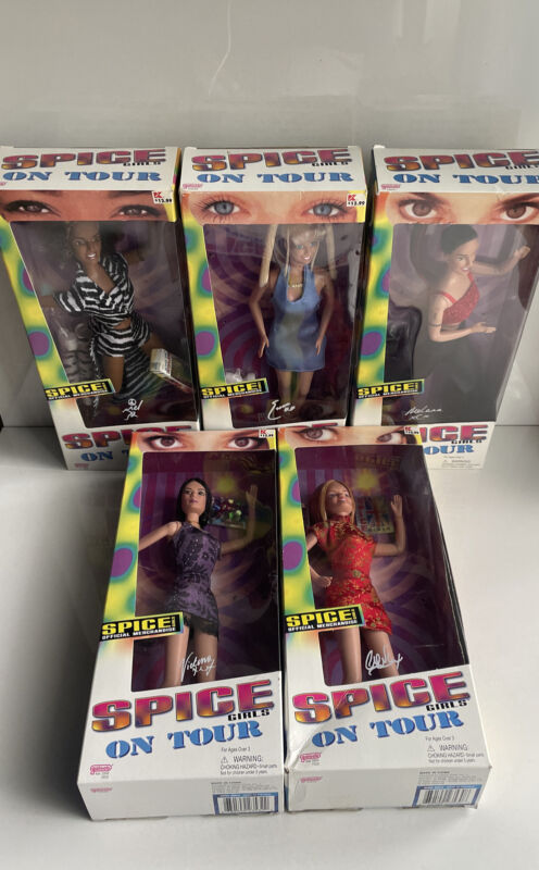 All Five Spice Girls Dolls by Galoob 1998 NIB Girl Power & On Tour - New in Box