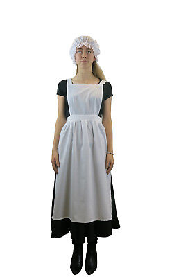 Ladies Victorian Edwardian Apron -  Maids Fancy Dress Costume Optional Mop - Victorian Maid Kostüm
