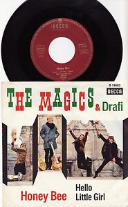 THE-MAGICS-DRAFI-HONEY-BEE-Ultrarare-1966-german-BEAT-7-P-S-Single-Release