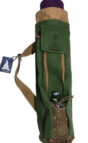 ***WHOLESALE LOT*** Llamaste Premium Canvas Yoga Mat Bag Olive Green