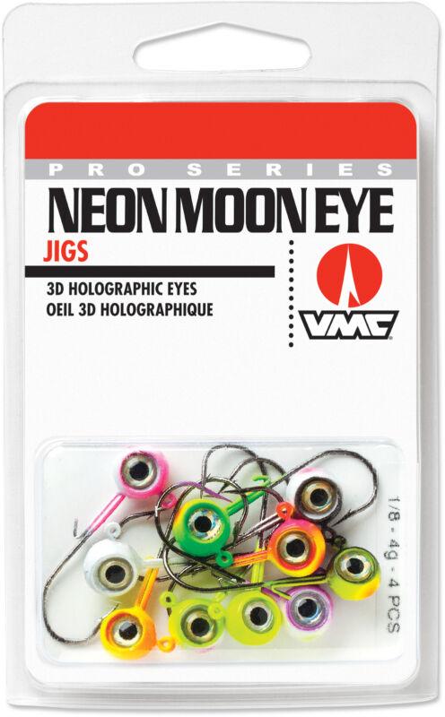 VMC Neon Moon Eye Jig Kit Walleye, Bass, Perch, and Panfish Jig Tackle