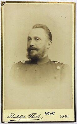 Leutnant Wirk - Kaiserreich Preußen Militär Portrait CDV Foto CAB Photo (W-3240