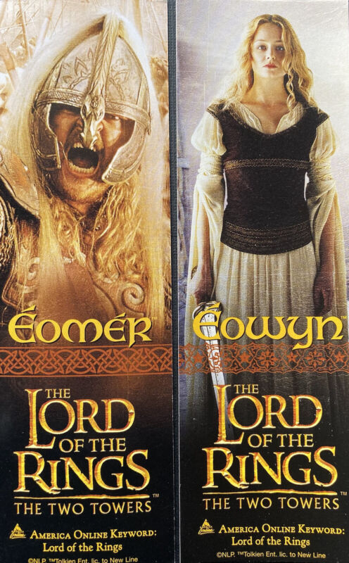 Promo Lord of the Rings Eomer & Eowyn 2-sided bookmark The Two Towers Karl Urban