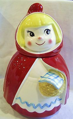 RARE Vintage METLOX Poppytrail Little Red Riding Hood COOKIE JAR