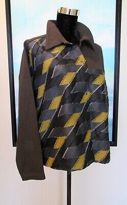 Babette Fiber Art Patchwork Artistic Jacket Sz S for sale  Shipping to Canada