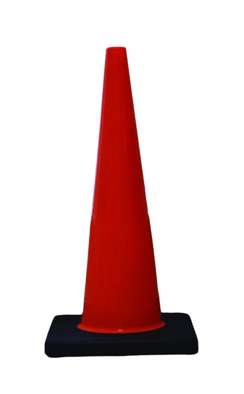 "DW Slim Line Traffic Cone 28"" 7# Orange w/black base  1 EA"
