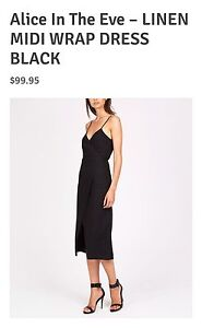 Alice In The Eve black wrap dress Bar Beach Newcastle Area Preview