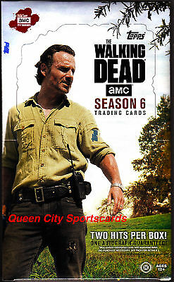 2017 Topps The Walking Dead Season 6 Trading Cards Factory Sealed Hobby Box