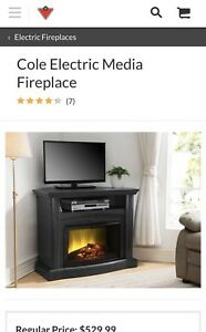 Cole Electric Media Fireplace (Corner TV Stand)