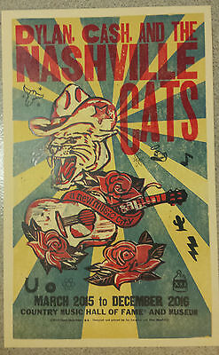 Bob Dylan & Johnny Cash Poster Nashville Cats Hatch Print, Jon Langford