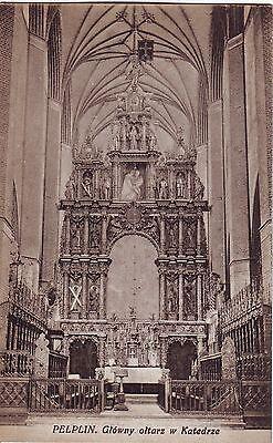 Poland Pelplin - Cathedral Altar Interior old unused postcard