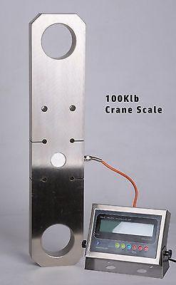 New Super Duty 100000lb X 10lb Crane Scale Tension Link W Wireless Indicator