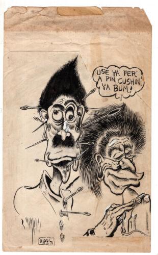 Larry Rippee as Ripp Original Underground Artwork 1971 Use Ya Fer