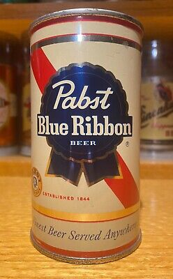 Pabst Blue Ribbon Flat Top Beer Can  - USBC 111-40 - AWESOME / VANITY LID