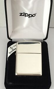 Armor Sterling Silver Zippo Lighter With High Polished Finish, #26, New In Box
