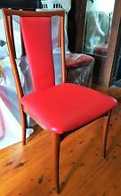 6 Parker Dining Chairs With Red Leather Upholstering Westmead Parramatta Area Preview