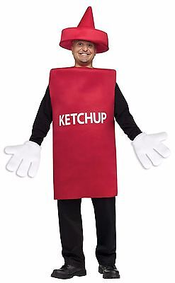 Adult Ketchup Costume (New Ketchup Bottle Adult Unisex Costume by Fun World 131194)