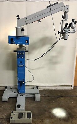 Zeiss Opmi 6-s Surgical Microscope On Stativ S3 Universal Stand With Footswitch