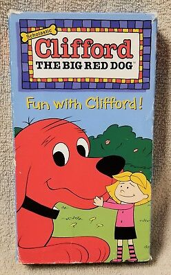 FUN WITH CLIFFORD The Big Red Dog VHS Video Tape Scholastic KIX Cereal Promo