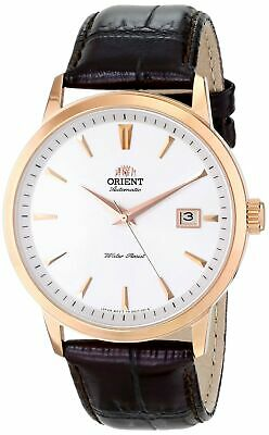 Orient Men's Rose Gold Plated Stainless Steel & Brown Leather Watch FER27003W0