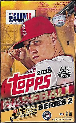 2016 Topps Baseball Series 2  factory sealed hobby box 36 packs