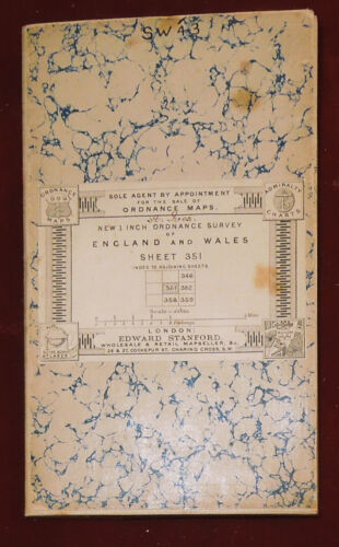 "ORDNANCE SURVEY NEW 1"" CLOTH BACKED MAP OF PENZANCE & ST. IVES - C.1896"