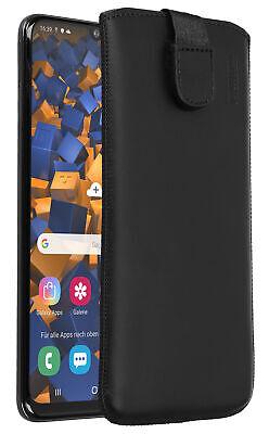 Galaxy-leder Etui (mumbi Leder Tasche für Samsung Galaxy A50 Etui Hülle Case Cover Bumper Schutz )