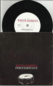 WHITE-RABBITS-Percussion-Gunn-w-Foxhunting-UNRELEASED-TRK-PROMO-7-INCH-VINYL