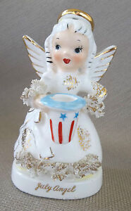 Vintage July Angel figurine from Napco/ Giftcraft
