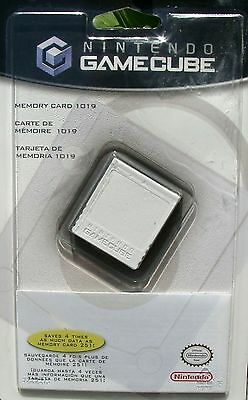 OFFICIAL NINTENDO GAMECUBE MEMORY CARD 1019 32MB GENUINE FACTORY SEALED NEW