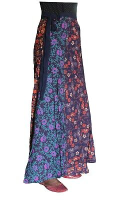 Indian Women Multi Color Hippie Plus Size Gypsy 100% Cotton Patchwork Long Skirt - Plus Size Hippie Skirts