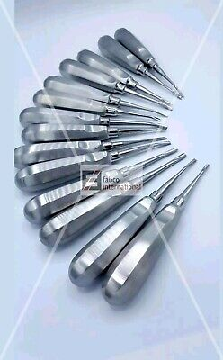 14 Dental Elevators Extraction Surgical Straight And Curved Surgery Instruments