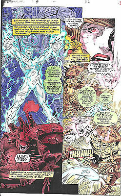 Clive Barker HYPERKIND #8 pg 2 original hand-painted color guide art 1995 signed