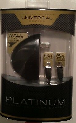 Seidio Platinum Dual Port W/6FT Cables Micro-USB Wall Charger For HTC One ( M8 )