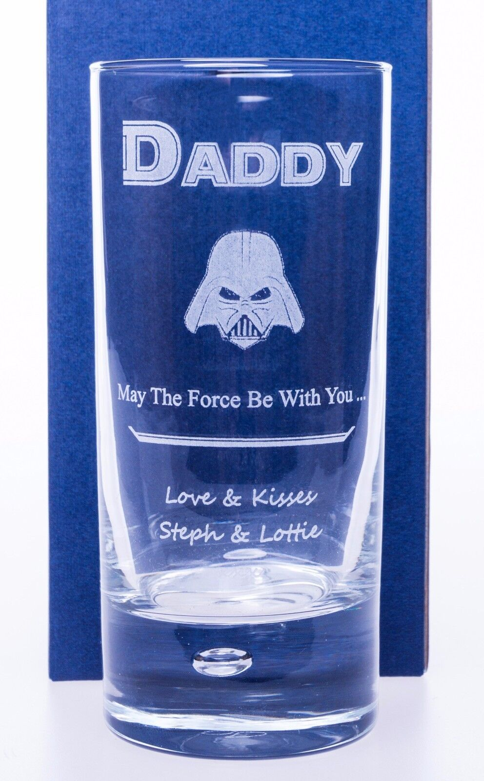 Personalised STAR WARS DARTH VADER Highball Glass Gift For B